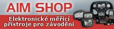 AIM Shop - elektronické měřící přístroje pro závodění